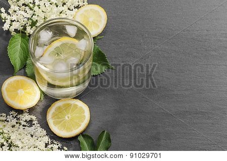A Glass Of Fresh Elderflower Lemonade
