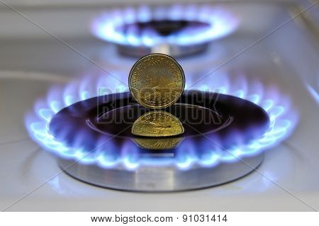 Dollar Burning Gas