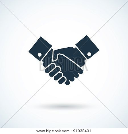 Handshake shadow icon