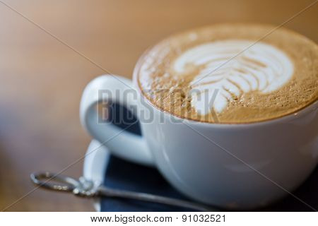 Closeup Photo Of A Cappuccino