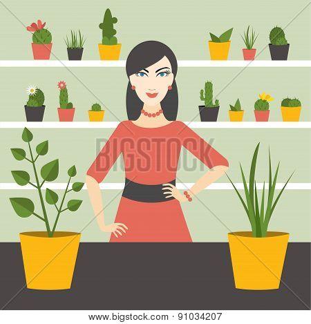 Florist Sales Woman.