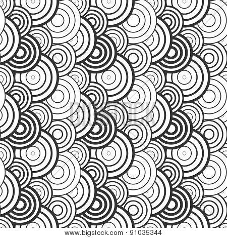 Pattern with circle elements. Seamless texture. Vector art.