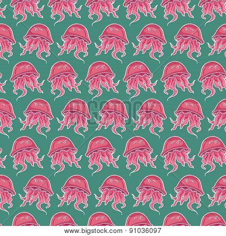 Pattern Of Stylized Jellyfish