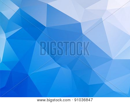 Ice Blue White Triangular Background