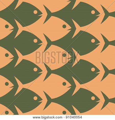 Fish seamless pattern. Esher style.