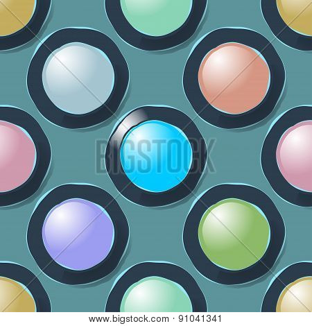 Color circles geometric seamless pattern