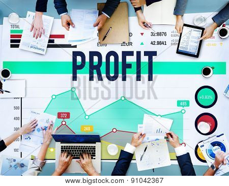 Profit Finance Gain Return Proceeds Percentage Concept
