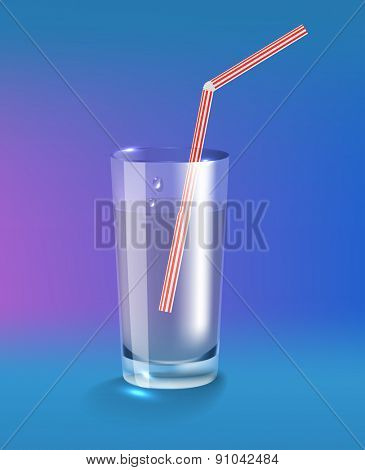 Glass of water. Raster version