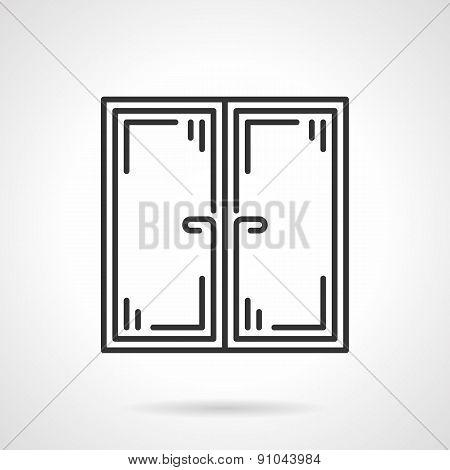 Double window black vector icon