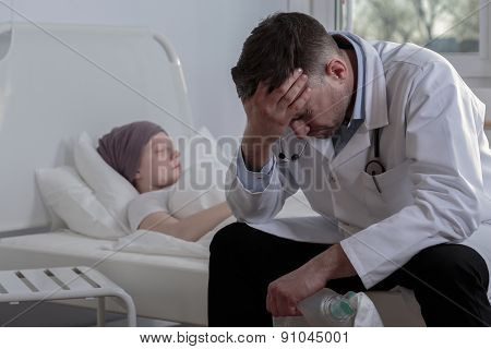 Helpless Doctor And Cancer Child