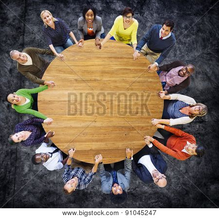 Diversity Group of Business People Teamwork Support Concept