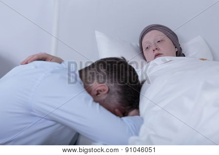 Cancer Child Comforting Despair Father
