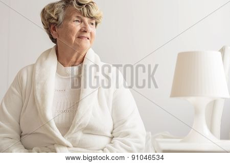 Senior Woman Wearing Dressing Gown