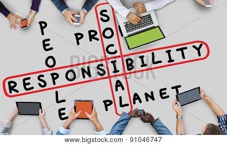 Social Responsibility Reliability Dependability Ethics Concept