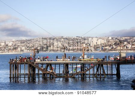 Fishermen In Valparaiso