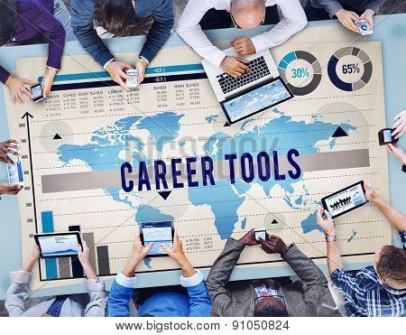 Career Tools Job Profession Hiring Employment Concept