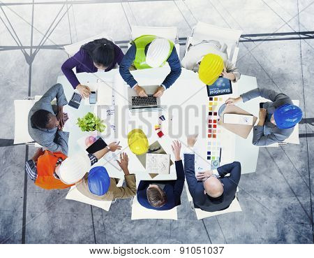 Brainstorming Planning Partnership Strategy Workstation Business Adminstration Concept