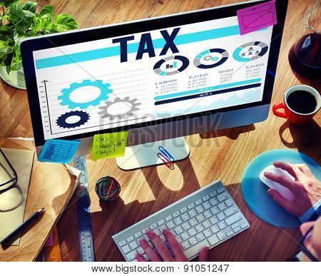 Tax Taxation Legal Audit Financial Economy Concept
