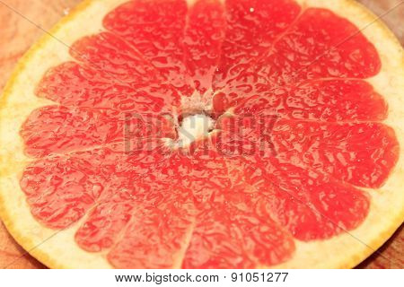 Background From The Cut Fruit Of Grapefruit