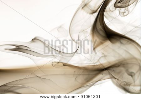 Abstract smoke curve isolated on white