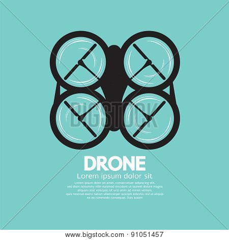 Top View Of Drone.