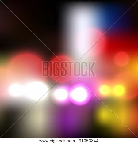 Blurred City Abstract Background