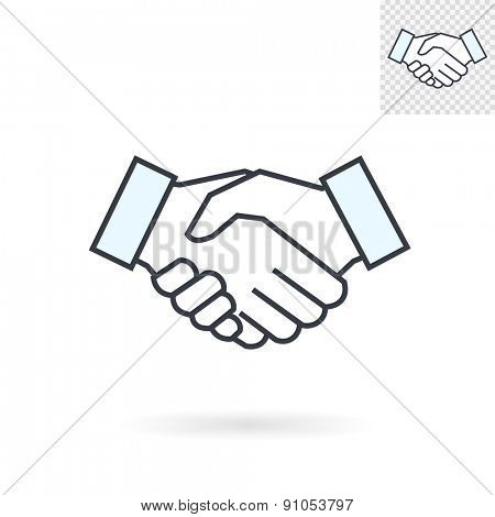 Modern abstract handshake sign for logos, banners, layouts, corporate  brochures, templates and internet web sites. Vector eps10 illustration