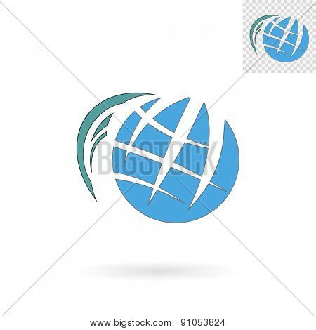 Modern abstract globe sign for logos, banners, layouts, corporate  brochures, templates and internet web sites. Vector eps10 illustration