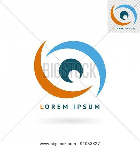 Modern abstract eye sign for logos, banners, layouts, corporate  brochures, templates and internet web sites. Vector eps10 illustration
