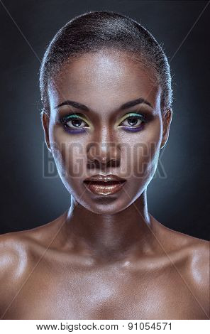 Beauty Portrait Of Handsome Ethnic African Girl.