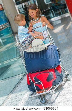 Kids in the airport