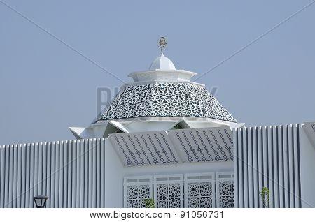 Dome of Masjid Raja Haji Fi Sabilillah a.k.a Masjid Cyberjaya at Cyberjaya, Malaysia