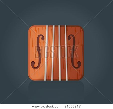 Vector illustration of violin icon for music software, eps10