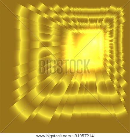 See burst light on golden background