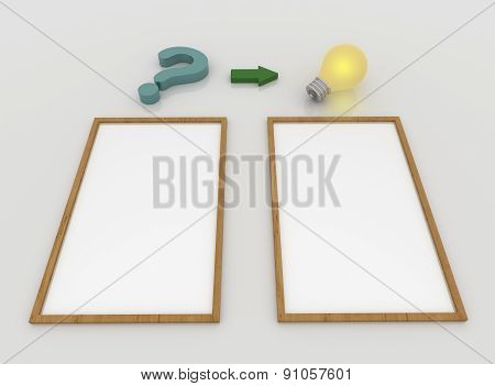 Question Mark And Light Bulb, Question And Answer Concept