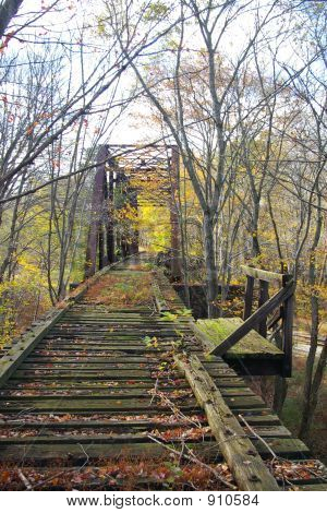 Abandoned Pennsylvania Railroad Trestle