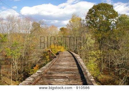 Cavalete de ferrovia abandonada de Pensilvânia