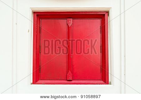 Closed Red Window