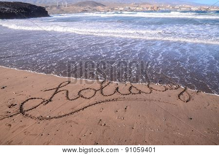 Word Written on the Sand