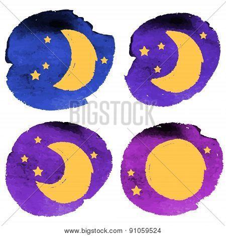Crayon Moon Set