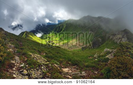 Carpathians mountain in summer time