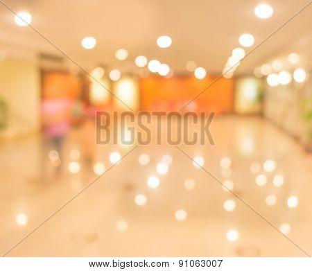 Blur Image Of Living Room For Background Usage.