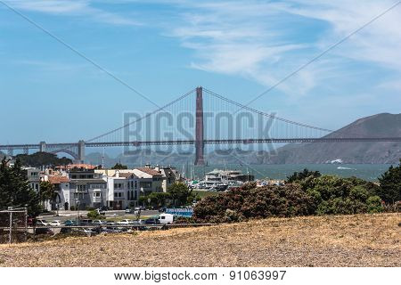 The Golden Gate Bridge from Fort Mason, San Francisco