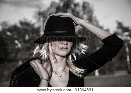 Cooly Woman With Hat .