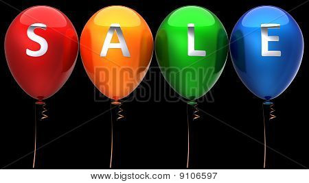 Colorful sale balloons (Hi-Res)