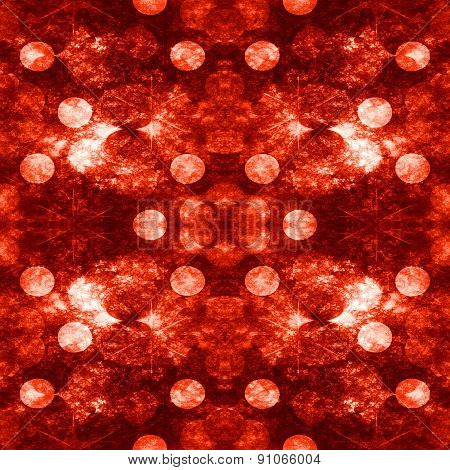 Seamless Decorative Pattern Or Background In Red