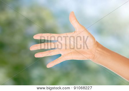Beautiful pure and smooth female hand.