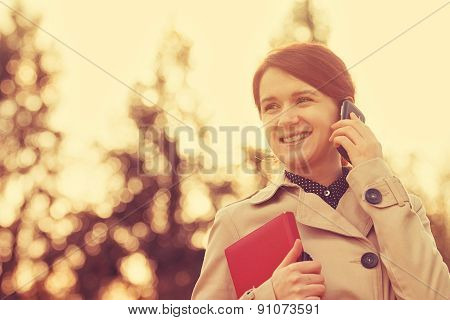 Businesswoman smiling,Life style in a city park