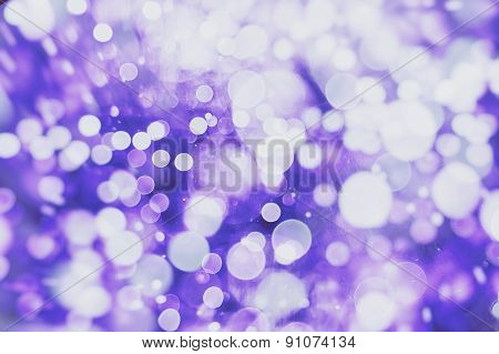 Purple Festive Background With Natural Bokeh And Bright Lights