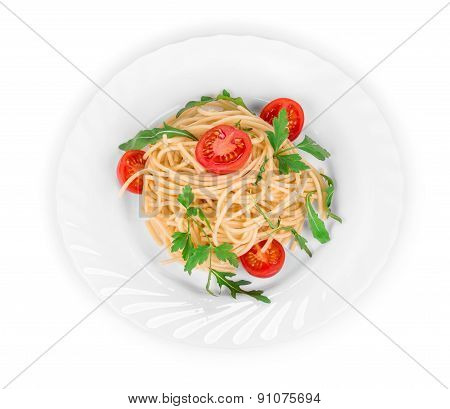 Spaghetti with tomato